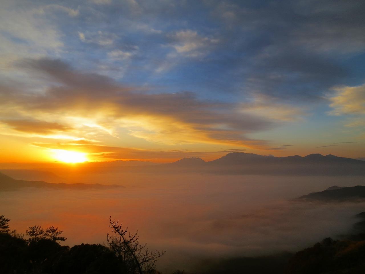 大観峰の雲海2016.11.13