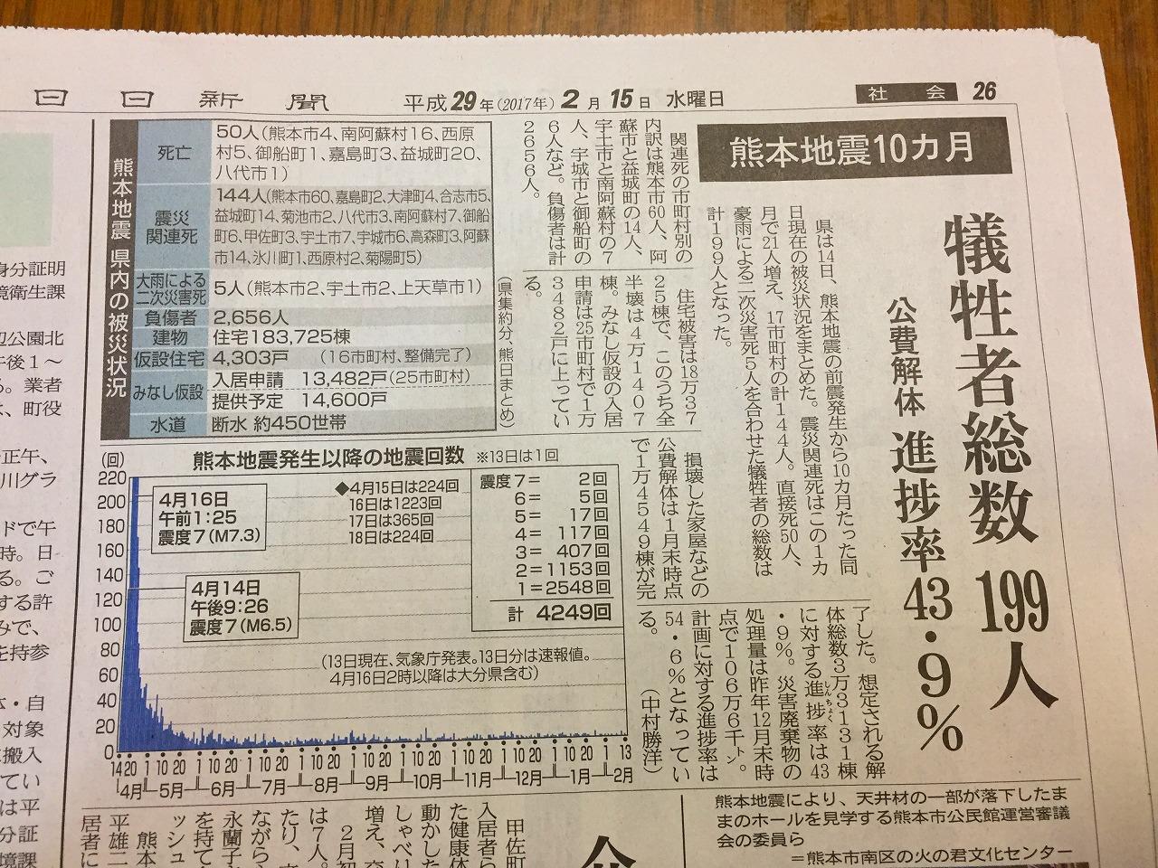 熊本地震10ヶ月