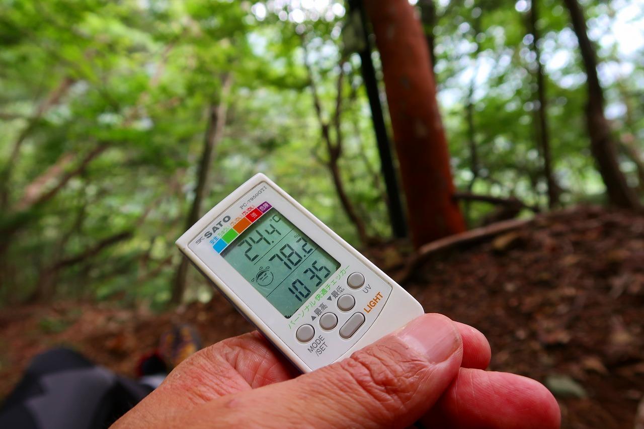 登山で使っているデジタル温湿度計