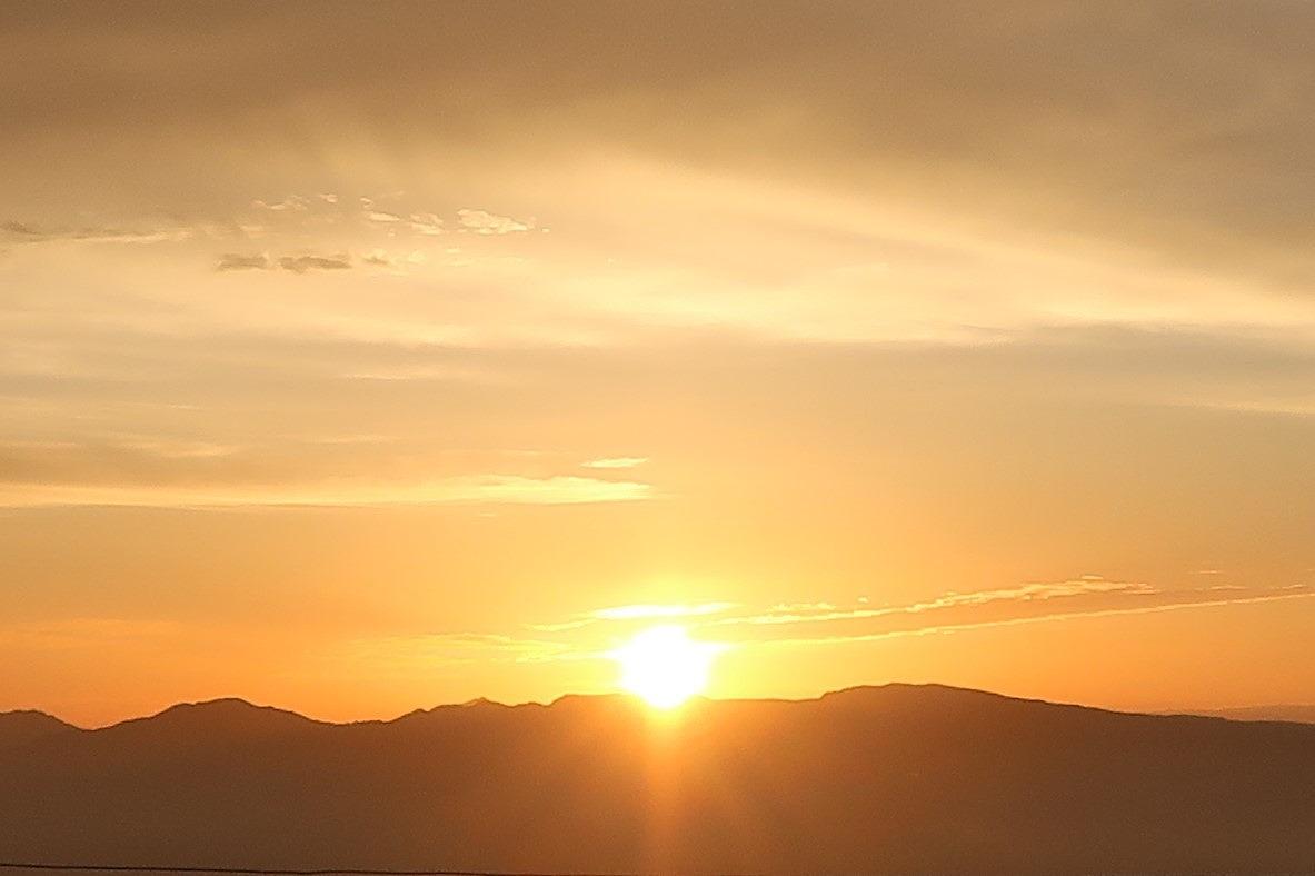 金峰山 見事な朝日