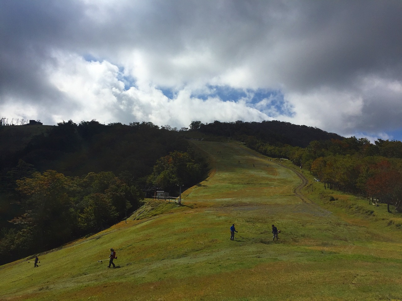 五ケ瀬スキー場 掃除ボランティア
