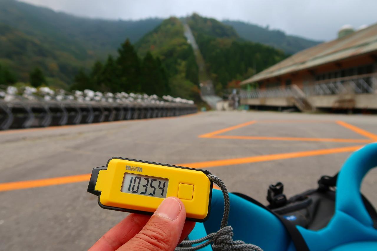 歩数計 五ケ瀬スキー場パーキング