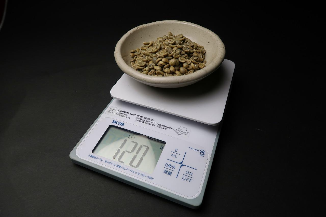 コーヒー生豆 焙煎すると何グラム?