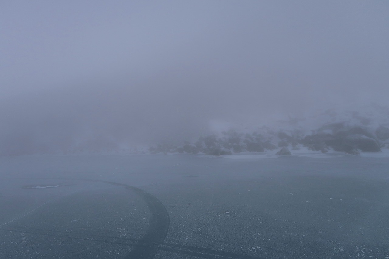 中岳 氷結御池