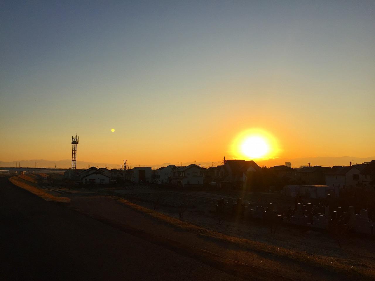 朝日がきれいなのだ