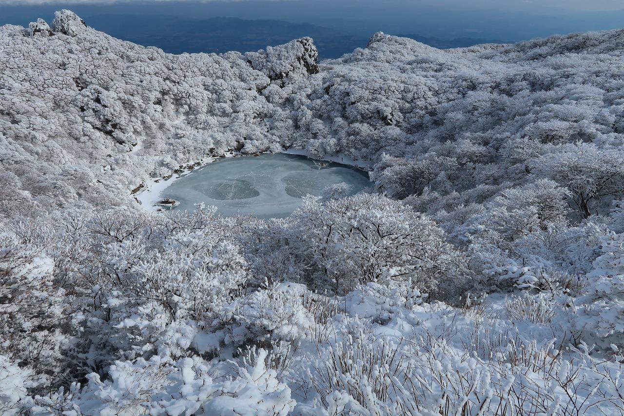 大船山の氷結御池