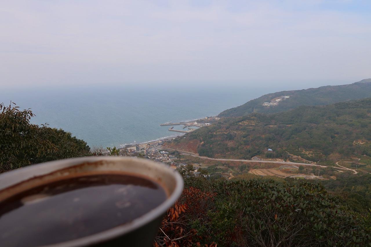 聖岳でコーヒータイム