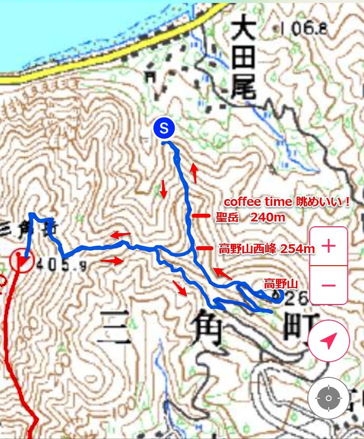 聖神社登山口から三角岳