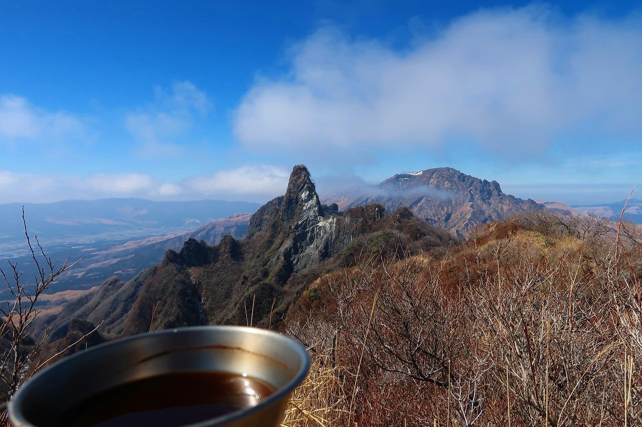根子岳でコーヒー