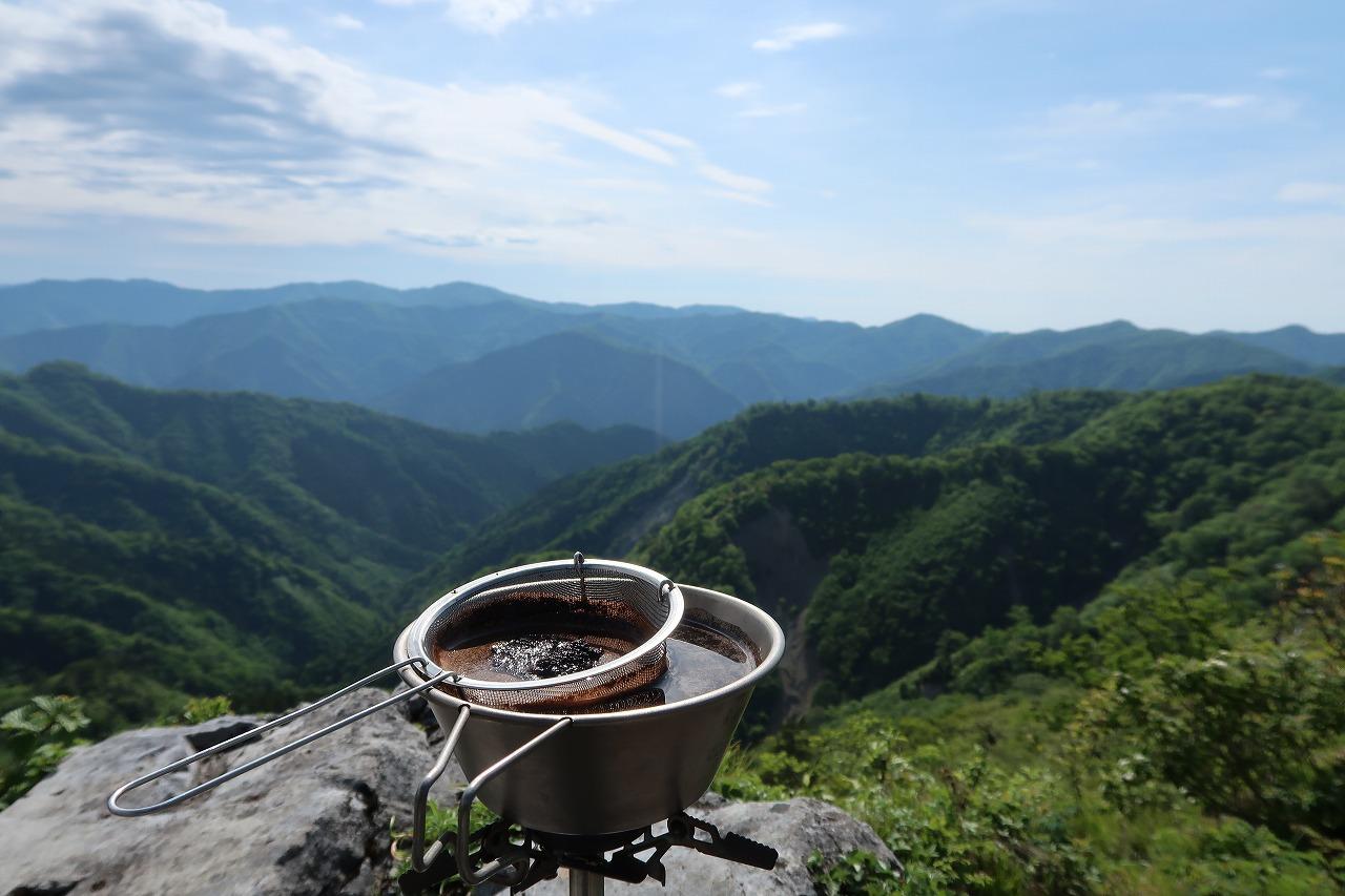 九州脊梁 白岩でコーヒー