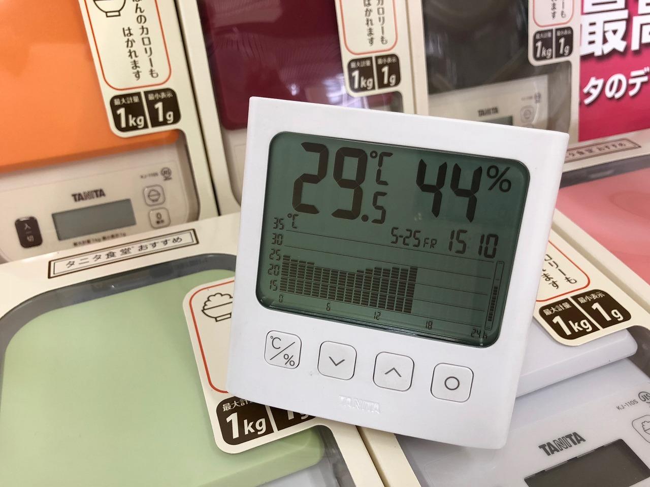 2018.5.25 はかりや店内の温度変化 TT-581