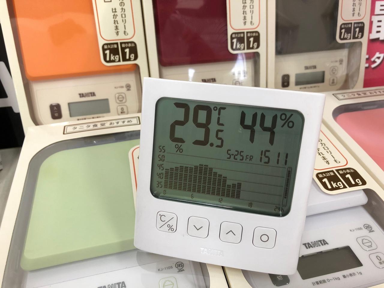 2018.5.25 はかりや店内の湿度変化 TT-581