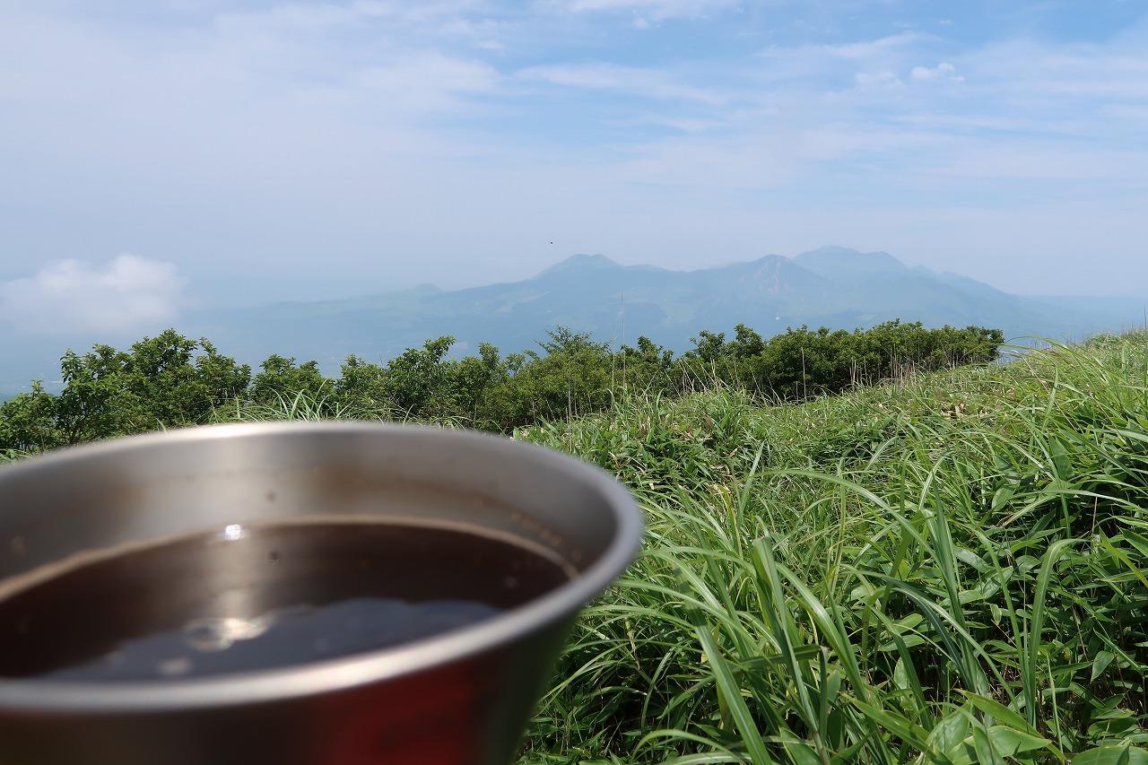 南阿蘇外輪山 俵山でコーヒー