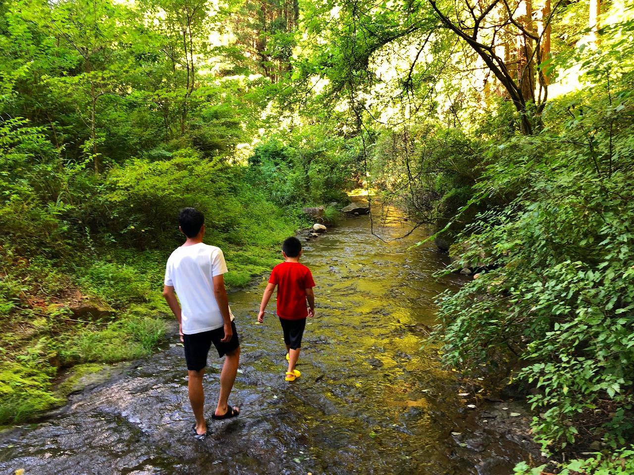 甥っ子達と川遊び