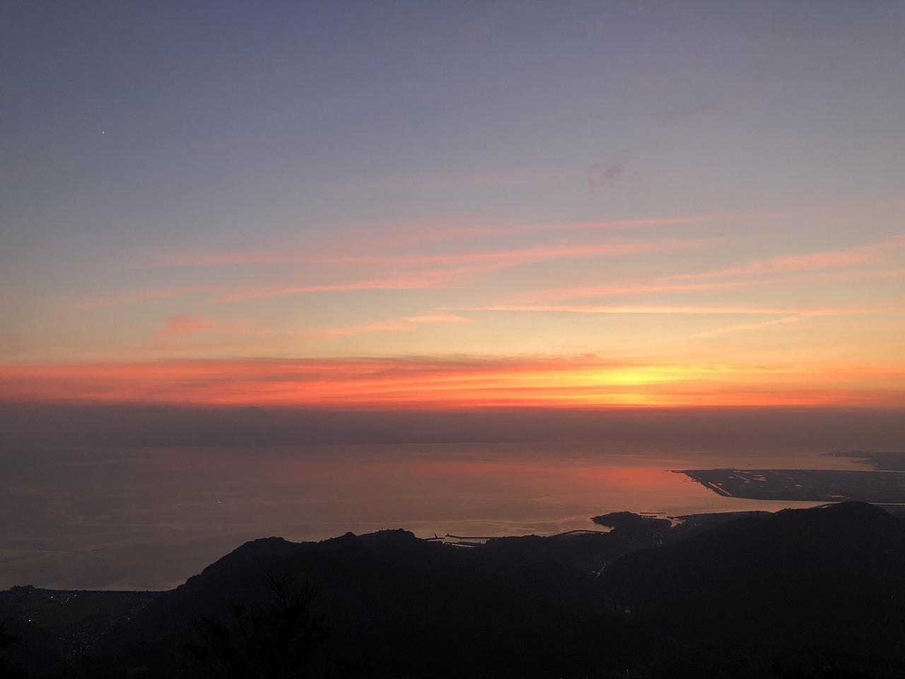 金峰山から夕焼け