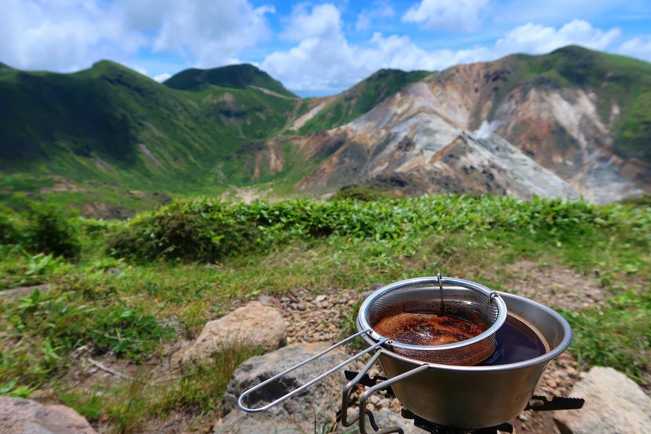 三俣山でコーヒー