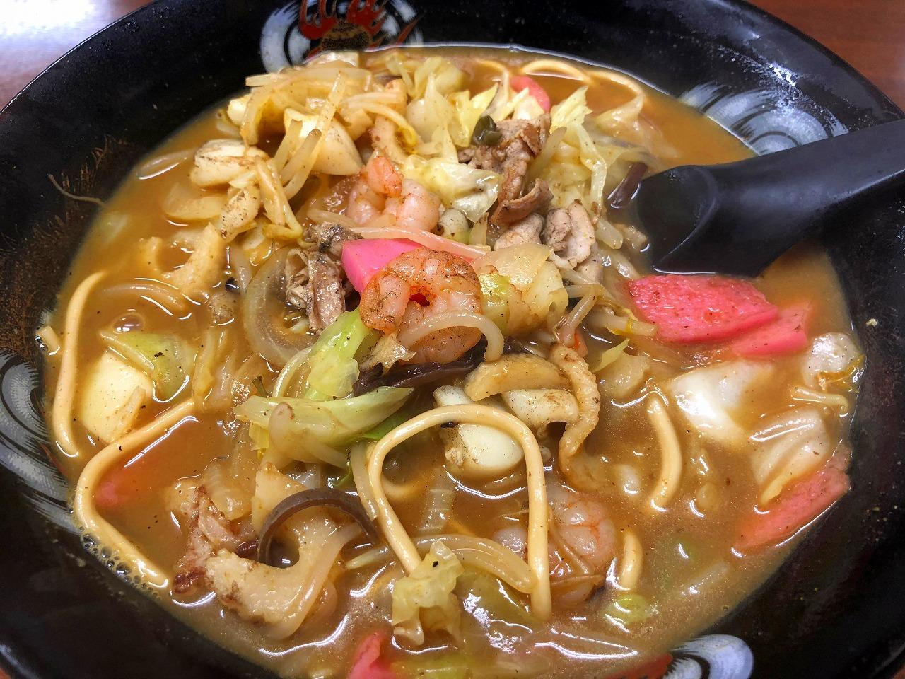 長崎で食べたカレーちゃんぽん