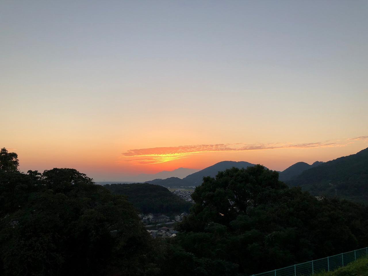 独鈷山からの夕焼け