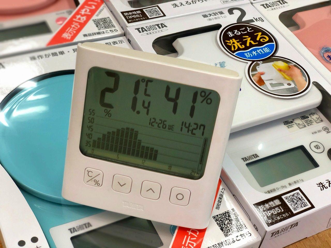 2018.12.26温度変化のグラフです!TT-581 グラフ付きデジタル温湿度計