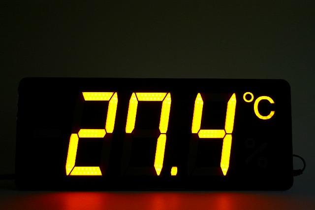 薄型温度表示器、薄型温湿度表示器