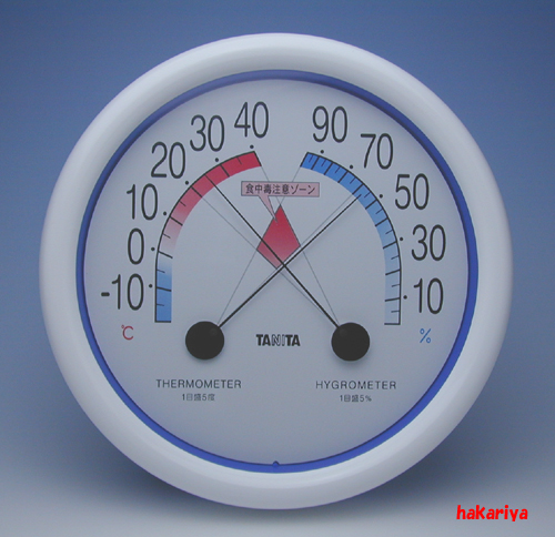 5488 食中毒注意ゾーン付き温湿度計