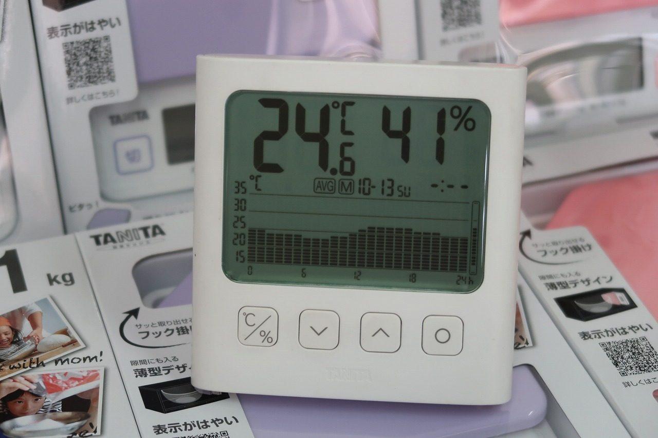 2019.10.13はかりや店内の温度グラフです。