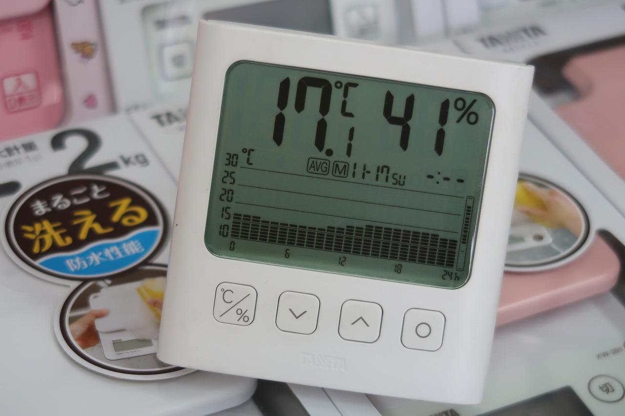 2019.11.17 温度のグラフです。 TT-581 グラフ付きデジタル温湿度計タニタ
